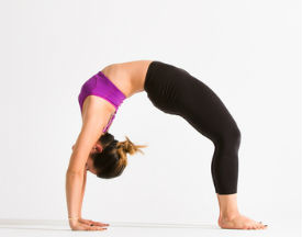 Dropping back to wheel pose