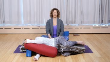 cozy up in your own nest with this sweet restorative pose