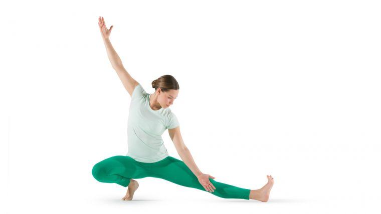 side lunge yoga international