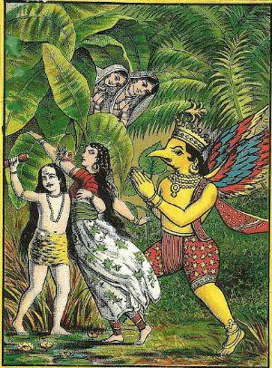 the mythology behind garudasana eagle pose