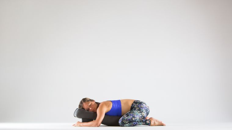 One Simple Setup A Restorative Yoga Sequence Without Tons